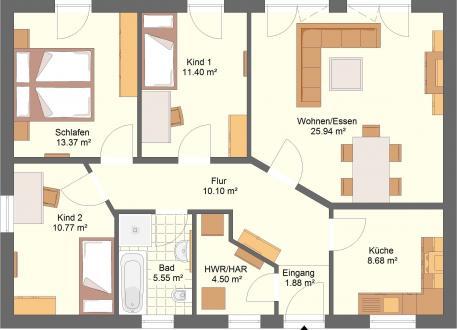 Bungalow 40.13 Individuell planen & bauen - Bungalow