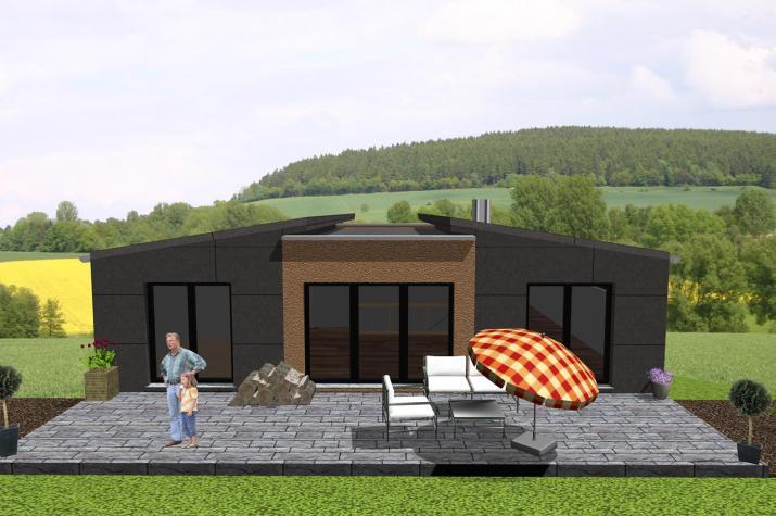 Futuristischer Bungalow mit Einliegerwohnung - www.jk-traumhaus.de -