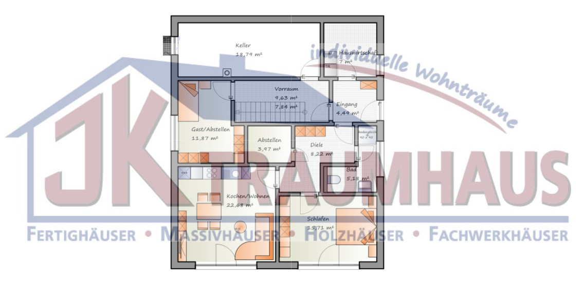 futuristischer bungalow mit einliegerwohnung jk traumhaus. Black Bedroom Furniture Sets. Home Design Ideas
