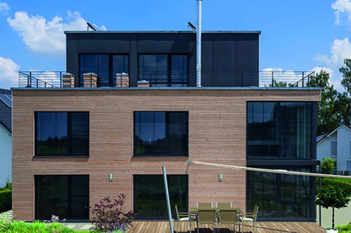 Kundenhaus Steinenbronn - kubisches Wohnhaus über drei Geschosse