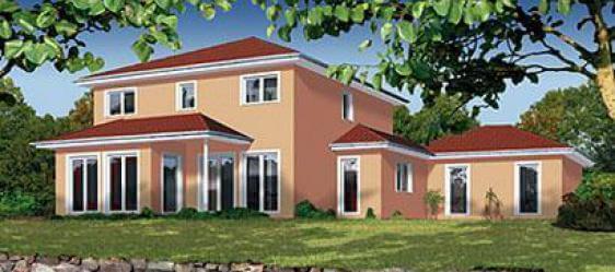 individuell geplant mediterrane stadtvilla mit integrierter garage. Black Bedroom Furniture Sets. Home Design Ideas
