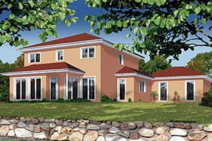 ... individuell geplant ! - Mediterrane Stadtvilla mit integrierter Garage  - www.jk-traumhaus.de - vorschau