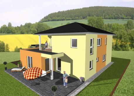 Zweifamilienhaus ... individuell geplant ! - Stadtvilla mit Gewerbeanteil- www.jk-traumhaus.de