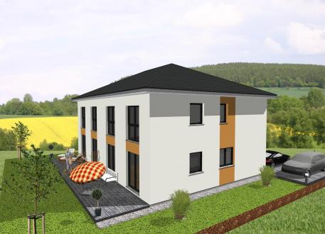 Zweifamilienhaus -individuell geplant- Stadtvilla im Doppelpack - www.jk-traumhaus.de