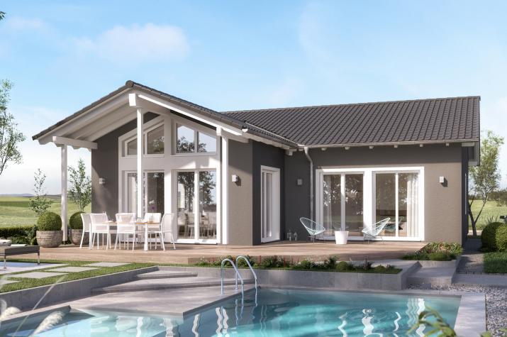 AMBIENCE 100 V2 - AMBIENCE 100 V2– Sonniger Bungalow mit großzügigem Wohnbereich im Satteldach-Querhaus