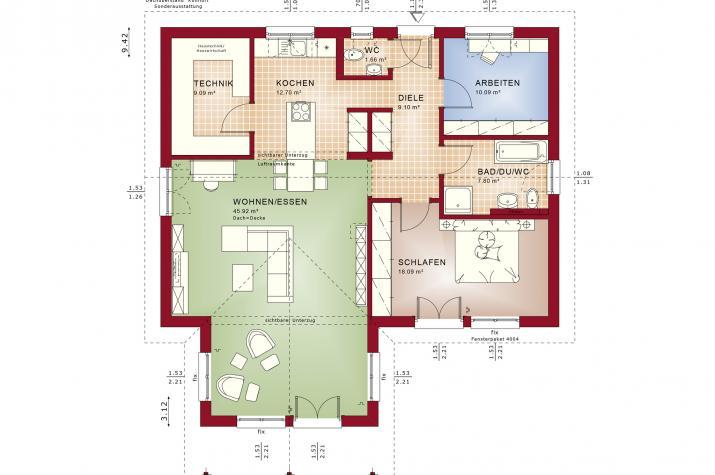 AMBIENCE 100 V2 - Grundriss Erdgeschoss