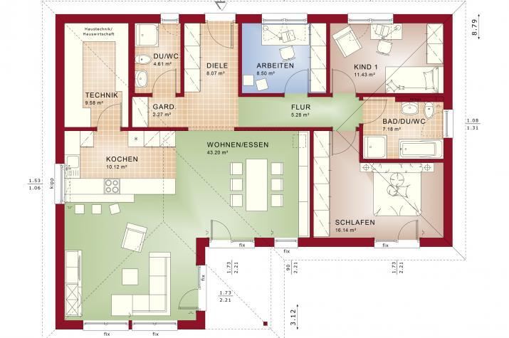 AMBIENCE 111 V3 - Grundriss Erdgeschoss