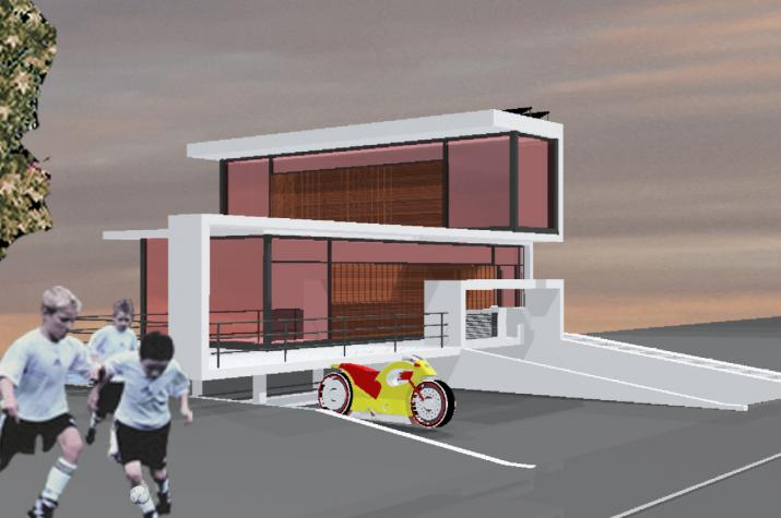Architektenhaus - Wohnhausskulptur -