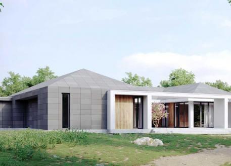 Einfamilienhaus bauen 921 einfamilienh user mit for Atriumhaus bauen