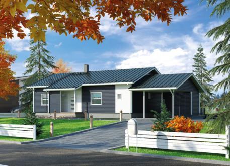 bis 75.000 € Ausbauhaus 108 mit Carport - Energieklasse A+- Kaufpreis 46.780.-- € inkl. MwSt.