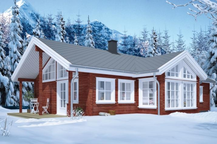 Ausbauhaus 119 - Energieklasse A+ - Kaufpreis 77.350.-- € inkl. MwSt. - Ansicht