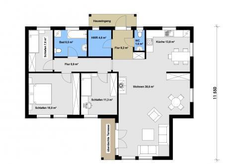 bis 100.000 € Ausbauhaus 120 - Kaufpreis 61.708.-- € inkl. MwSt.