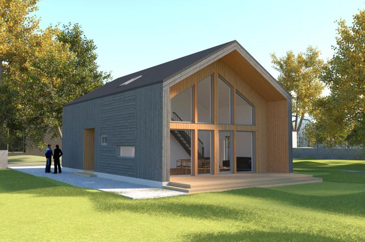 Ausbauhaus 128 - Energieklasse A+ - Kaufpreis 98.450.-- € inkl. MwSt. - Ansicht