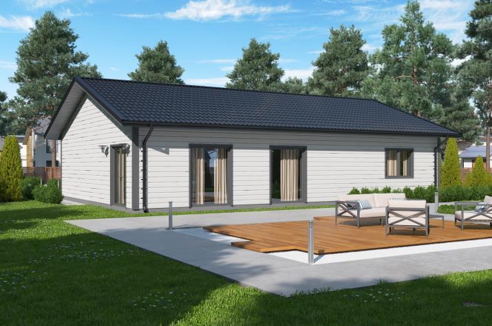 Ausbauhaus 137 - Energieklasse A+ - Kaufpreis 40.350.-- € inkl. 19% MwSt. - - Ansicht
