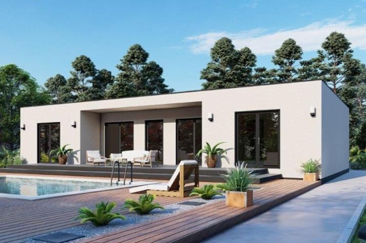 Ausbauhaus 144 - Energieklasse A+ - Kaufpreis 46.200.-- € inkl. MwSt. - Ansicht