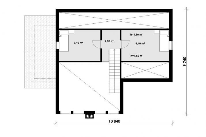 Ausbauhaus 147 -  Energieklasse A+  -Kaufpreis 66.940.-- € inkl. MwSt. - Dachgeschoss