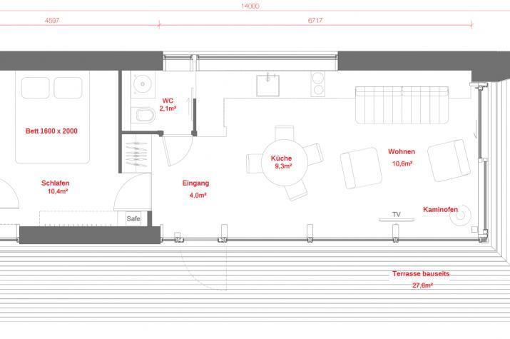 Ausbauhaus 40,0 m²  - Energieklasse A+ - Kaufpreis 34.000.-- € inkl. MwSt. -