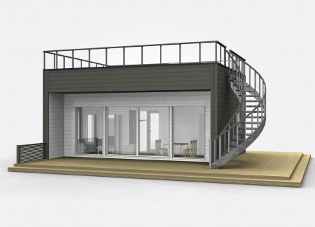 Bungalow Ausbauhaus 44 - KfW 55 - Kaufpreis 41.800.-- € inkl. MwSt.