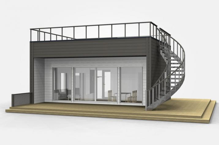 Ausbauhaus 44 - KfW 55 - Kaufpreis 41.800.-- € inkl. MwSt. - Ansicht