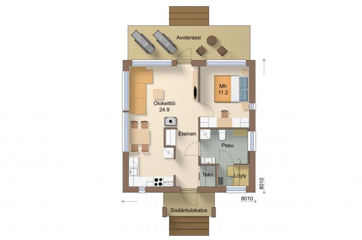 Ausbauhaus 53 - KfW 55 -Kaufpreis 50.275.-- € inkl. 19% MwSt. - - Erdgeschoss