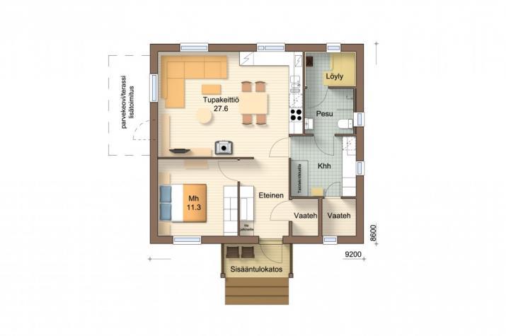 Ausbauhaus 67 -  Energieklasse A+ - Kaufpreis 48.550.-- € inkl. MwSt. - Erdgeschoss