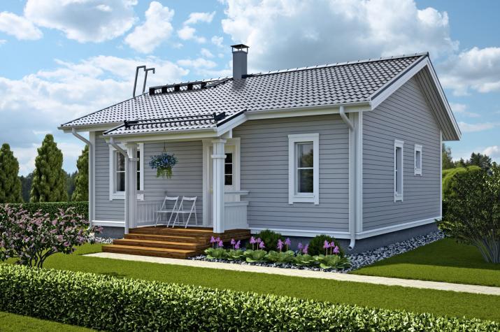 Ausbauhaus 67 -  Energieklasse A+ - Kaufpreis 48.550.-- € inkl. MwSt. - Ansicht