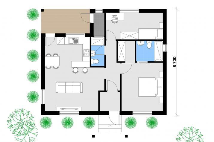 Ausbauhaus 89 -  Energieklasse A+  -Kaufpreis 40.350.-- € inkl. 19% MwSt.  - Erdgeschoss
