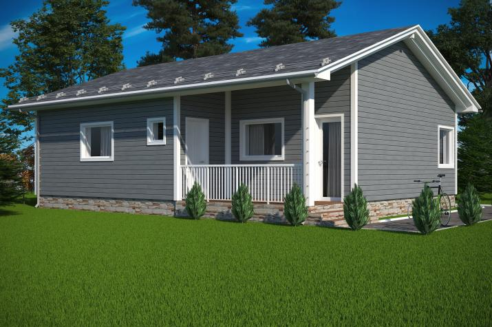 Ausbauhaus 89 -  Energieklasse A+  -Kaufpreis 40.350.-- € inkl. 19% MwSt.  - Ansicht