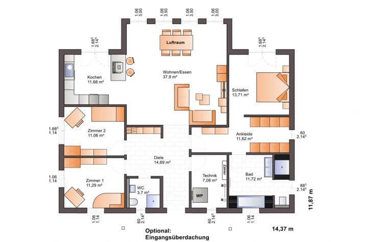 Bärenhaus Bungalow One 134 - One 134 Erdgeschoss