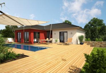 bungalow bis euro bis 150 m fertighaus. Black Bedroom Furniture Sets. Home Design Ideas