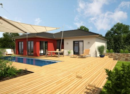 bungalow bauen 206 bungalows mit grundrissen preisen. Black Bedroom Furniture Sets. Home Design Ideas