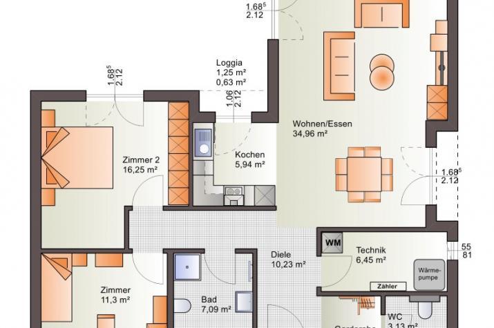 Bärenhaus Bungalow One 98 - One 98 Erdgeschoss
