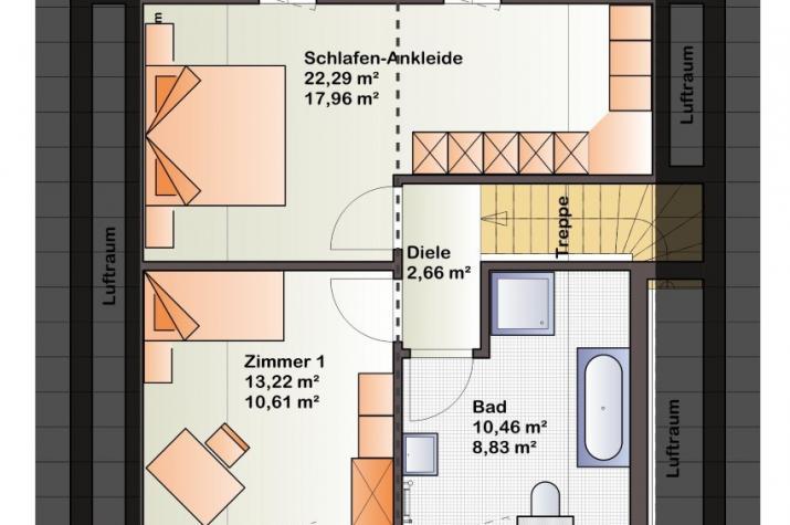 Bärenhaus Einfamilienhaus Esprit 112 - Esprit 112 Dachgeschoss