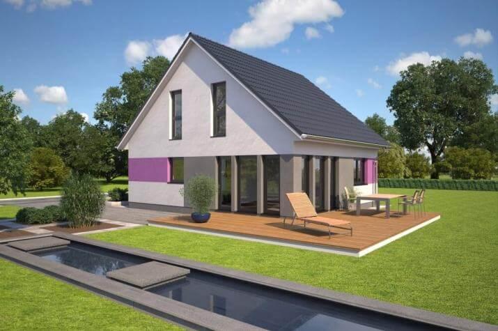 Bärenhaus Einfamilienhaus Esprit 126 - Esprit 126 Garten