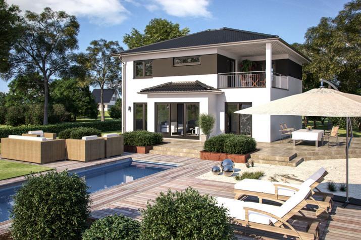 B renhaus stadtvilla eos 169 for Modernes haus mit rotem dach