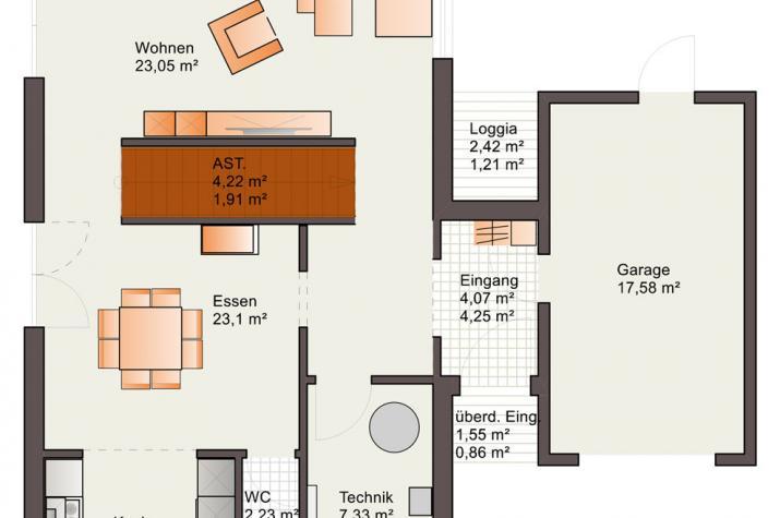 Bärenhaus Stadtvilla Eos 176 - Eos 176 Erdgeschoss
