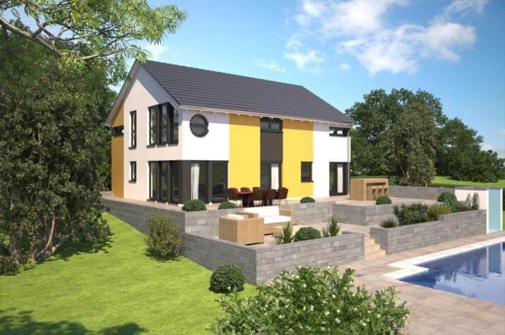 B renhaus zweifamilienhaus esprit 184 b renhaus for Zweifamilienhaus modern grundriss