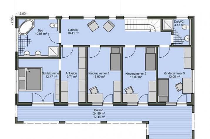 Bauhaus 172 hauswerk gmbh for Bauhaus einfamilienhaus grundriss