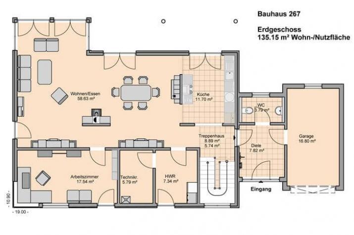 Bauhaus 267 hauswerk gmbh for Bauhaus einfamilienhaus grundriss