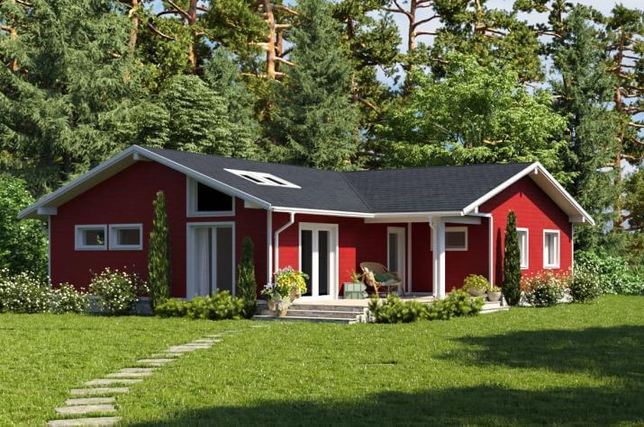 Bausatzhaus 132 - Kaufpreis 47.860.-- € inkl. 19% MwSt. - Ansicht