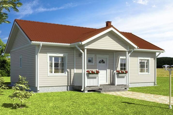 Bausatzhaus 94/2 - Kaufpreis 59.900.--  inkl. 19% MwSt. - Ansicht