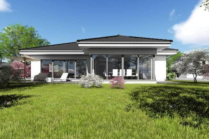 bungalow typ 4 mit 140 qm br uer architekten rostock. Black Bedroom Furniture Sets. Home Design Ideas