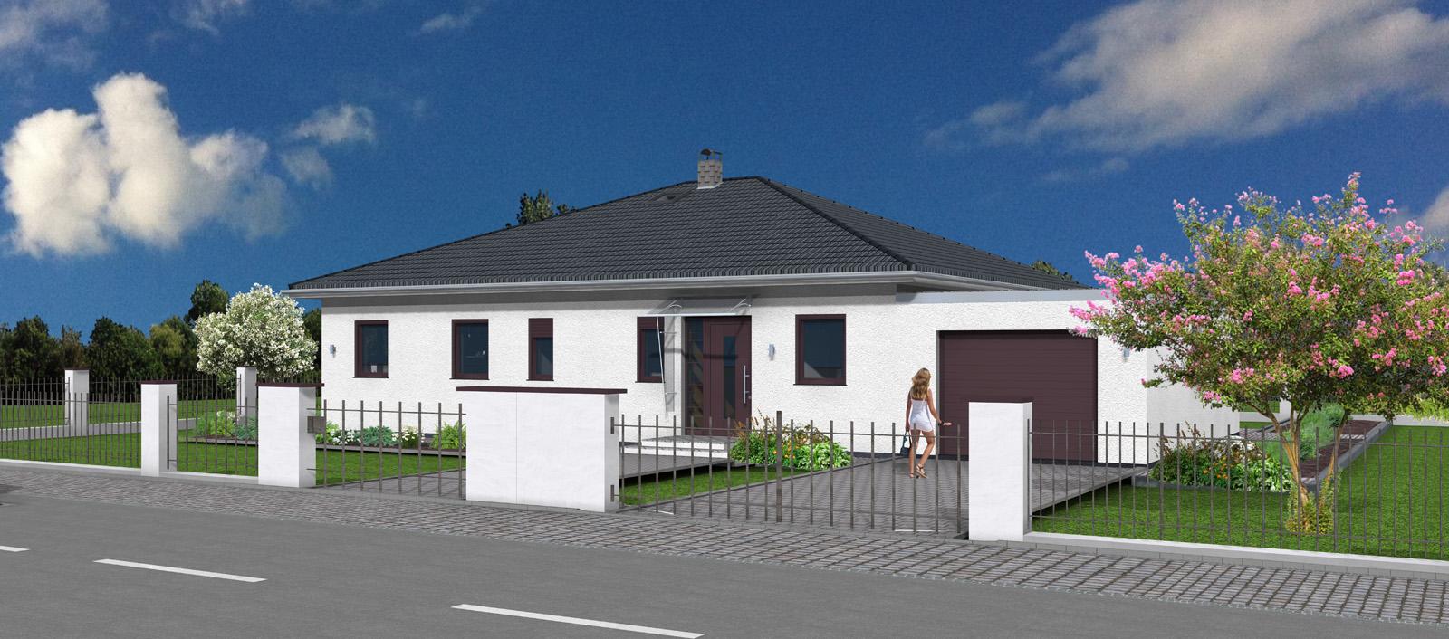 bungalow 126 mit garage. Black Bedroom Furniture Sets. Home Design Ideas