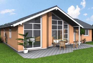 fertighaus kleiner bungalow fertighaus bungalow ein bl htonhaus massivhaus und der bungalow 92. Black Bedroom Furniture Sets. Home Design Ideas