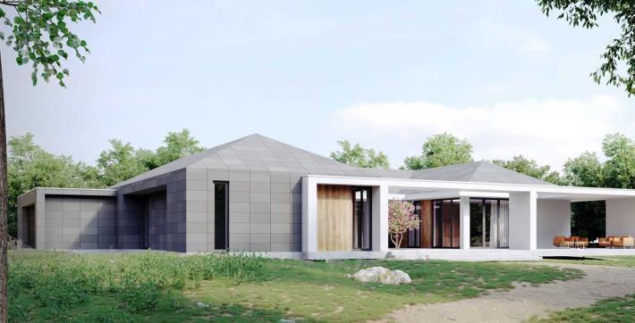 Bungalow 341  mit einem Atrium - Meisterwerk Unikathaus GmbH