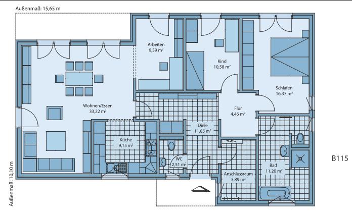 Hauspläne mit garage  ᐅ BUNGALOW bauen ▷ 206 Bungalows mit Grundrissen & Preisen