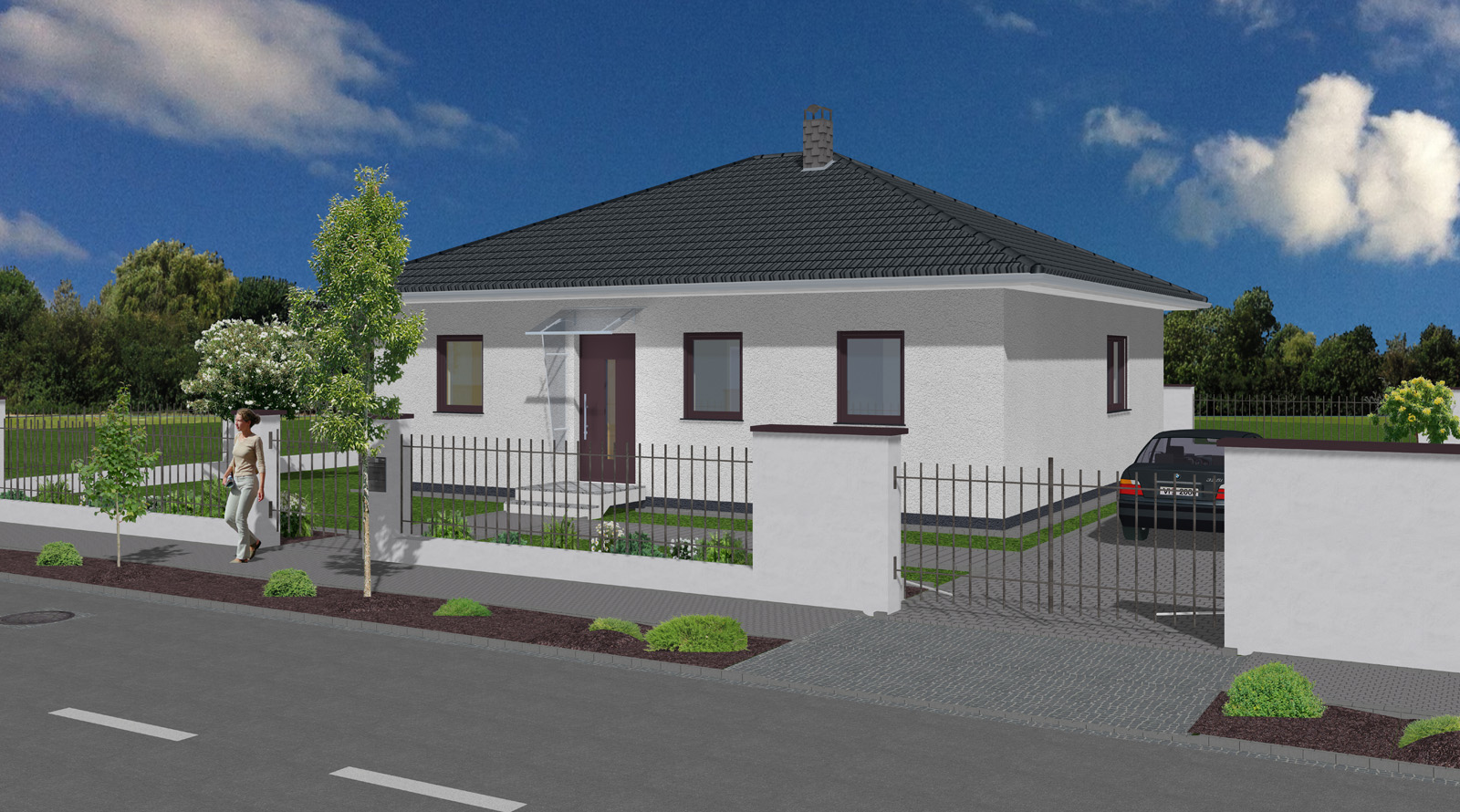 bungalow minni 84 qm wohnfl che sawohaus. Black Bedroom Furniture Sets. Home Design Ideas