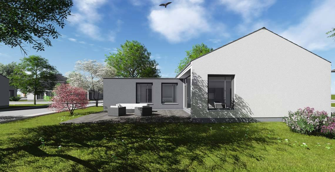 bungalow typ 1 mit 129 qm br uer architekten rostock. Black Bedroom Furniture Sets. Home Design Ideas