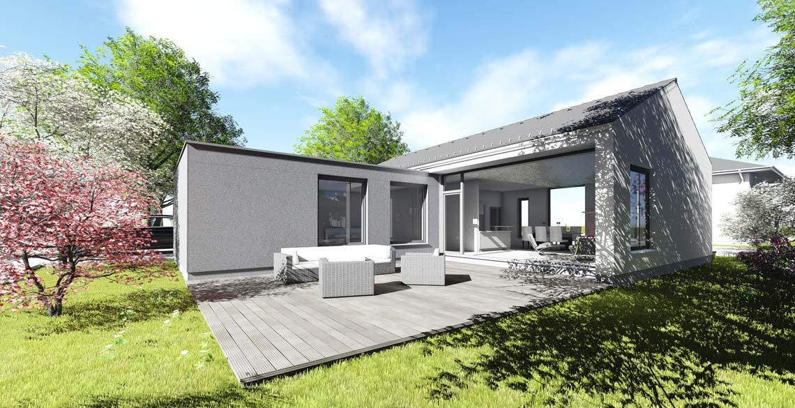 bungalow typ 1 mit 129 qm. Black Bedroom Furniture Sets. Home Design Ideas