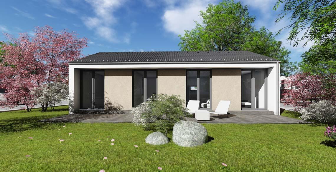 bungalow typ 2 mit 80 qm br uer architekten rostock. Black Bedroom Furniture Sets. Home Design Ideas